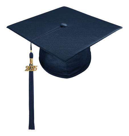 Child Navy Blue Cap & Tassel - Preschool & Kindergarten Graduation - Graduation Cap and Gown
