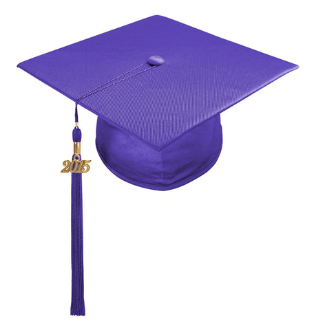 Shiny Purple High School Cap & Tassel - Graduation Caps - Graduation Cap and Gown