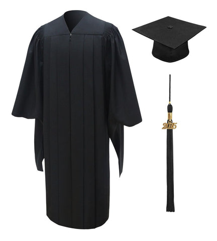 Deluxe Master's Graduation Cap, Gown, Tassel & Hood Package - Graduation Cap and Gown