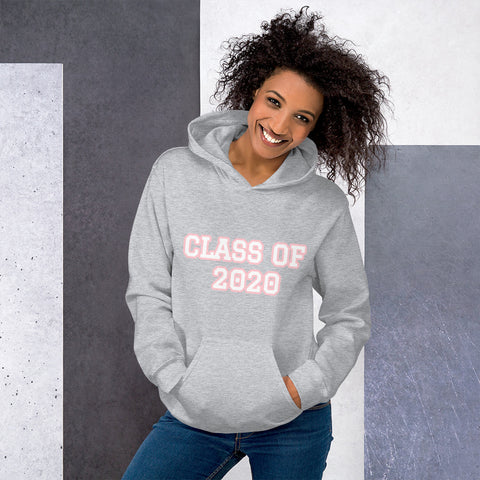 "Graduation ""CLASS OF 2020"" Unisex Hoodie - Graduation Cap and Gown"
