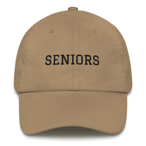 """SENIORS"" Dad hat - Graduation Cap and Gown"