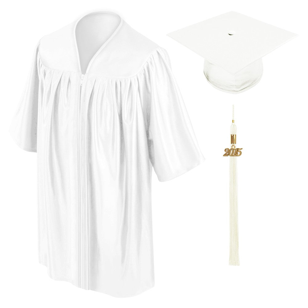 Child White Graduation Cap & Gown - Preschool & Kindergarten - Graduation Cap and Gown