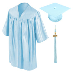 Child Light Blue Graduation Cap & Gown - Preschool & Kindergarten - Graduation Cap and Gown