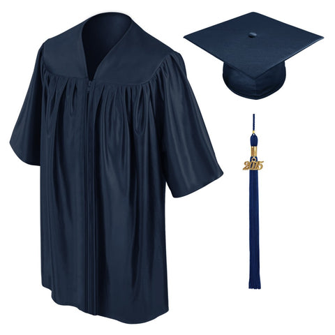 Child Navy Blue Graduation Cap & Gown - Preschool & Kindergarten - Graduation Cap and Gown