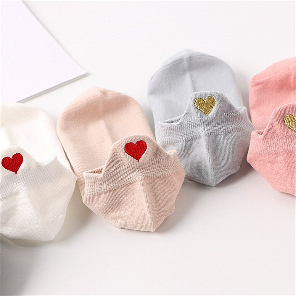Happy Hearts & Expression Socks - (Set of 4 Amazingly Cute Pairs)