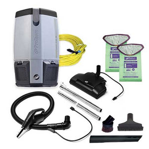 ProVac FS 6 Backpack Vacuum w/ Commercial Power Nozzle Tool Kit