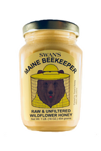 Load image into Gallery viewer, swan's maine beekeeper raw & unfiltered wildflower honey