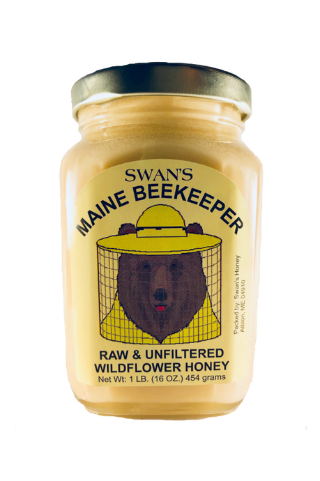 swan's maine beekeeper raw & unfiltered wildflower honey