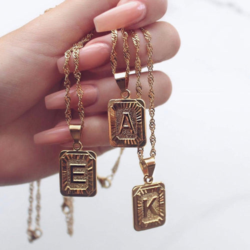 Initials Pendant Necklace - Veroniques Collection