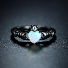 Load image into Gallery viewer, Fire Opal Heart Ring - Veroniques Collection