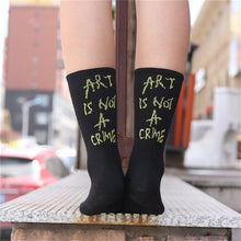 Load image into Gallery viewer, Art Is Not A Crime Socks - Veroniques Collection