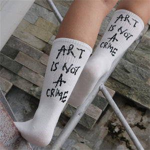 Art Is Not A Crime Socks - Veroniques Collection