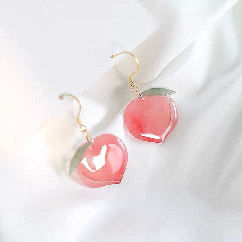Peach Drop Earrings - Veroniques Collection
