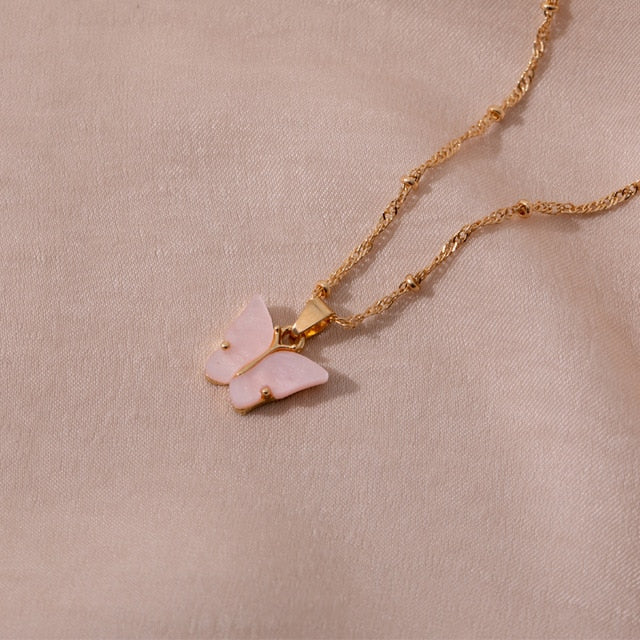 Butterfly Pendant Necklace - Veroniques Collection