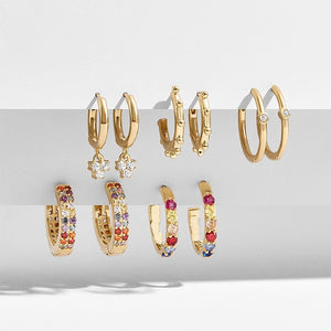 Sierra Hoop Earrings Set - Veroniques Collection