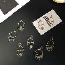 Load image into Gallery viewer, Face Drop Earrings - Veroniques Collection