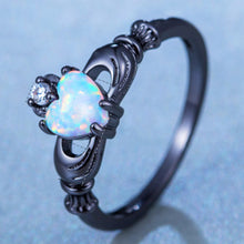 Load image into Gallery viewer, Fire Opal Heart Ring - Veronique Collection