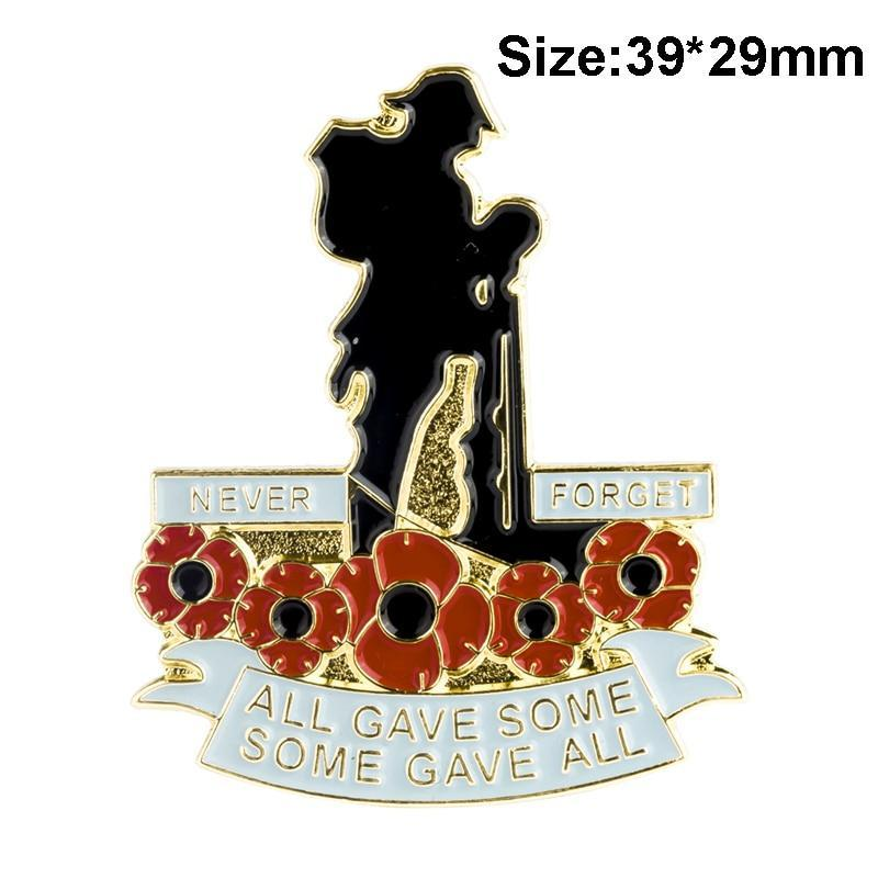 Poppy flower lapel pin badges pridesoldier poppy flower lapel pin badges mightylinksfo