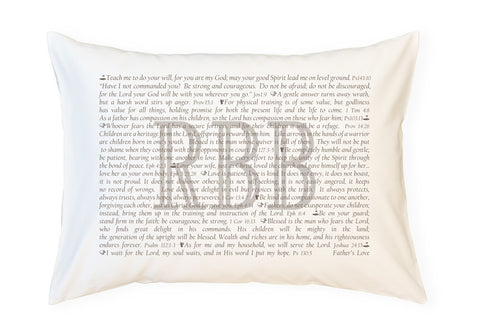 PillowGrace Personalized Scripture Pillowcase for Fathers Golf
