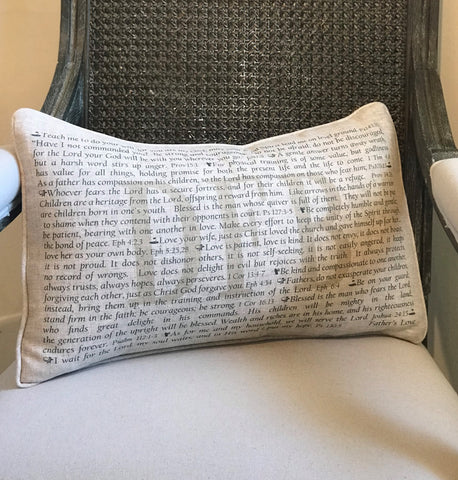 PillowGrace Personalized Pillow with Scripture Father's Day Gift Golf