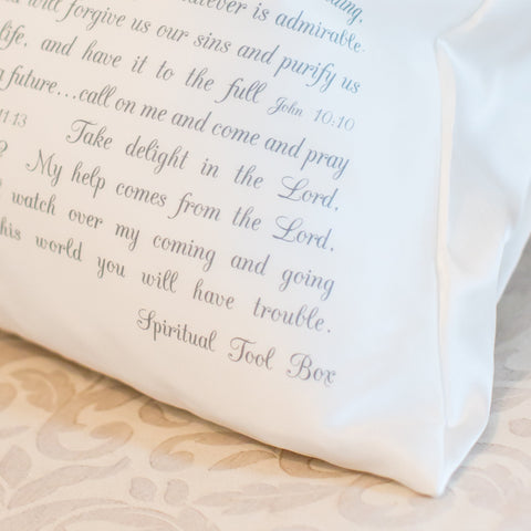 PillowGrace Silk Standard Pillowcase with Scripture