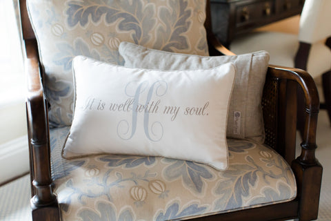 PillowGrace It Is Well With My Soul Scripture Pillow