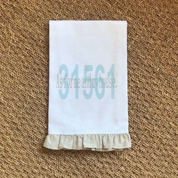 OUTLET - Joshua 24:15 31561 (Sea Island) - Hand Towel with Trim