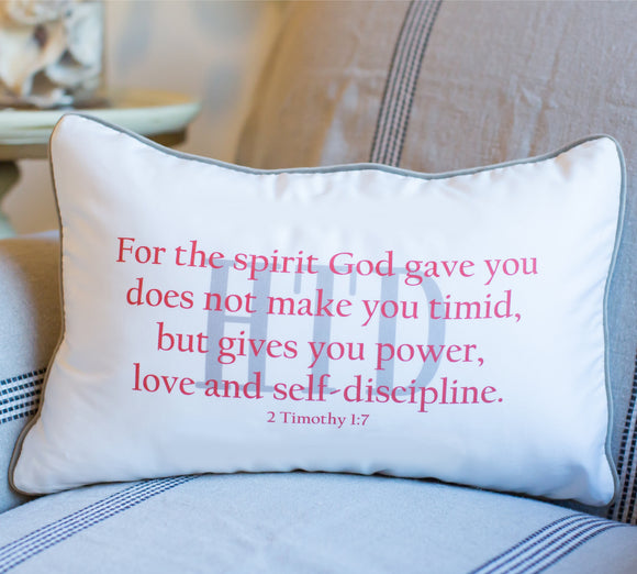 2 Timothy - Boudoir Pillow