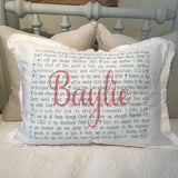 OUTLET - Lord Bless You Sample - Baylie - Cotton Standard Pillowcase with Ruffle