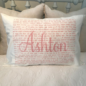 OUTLET - Scripture for the Happy Heart Ballet Sample - Ashton - Cotton Standard Pillowcase