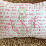 OUTLET - Lord Bless You Anchor Sample - aSb / ABS - Cotton Boudoir with Pink Trim