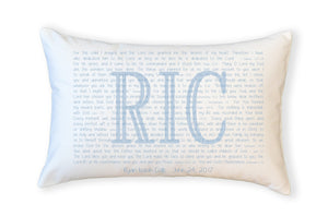Scripture for Adoption - Boudoir Pillow - PillowGrace Project + Abiding Love Adoptions