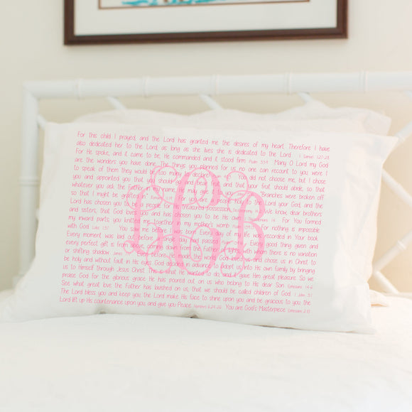 Scripture for Adoption - Standard Pillowcase - PillowGrace Project + Abiding Love Adoptions
