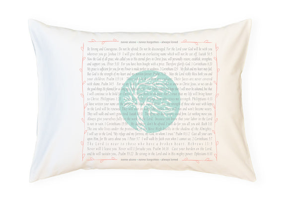 PillowGrace Project + Abiding Love Adoptions - Scripture for Birth Mother's Love - Standard Pillowcase