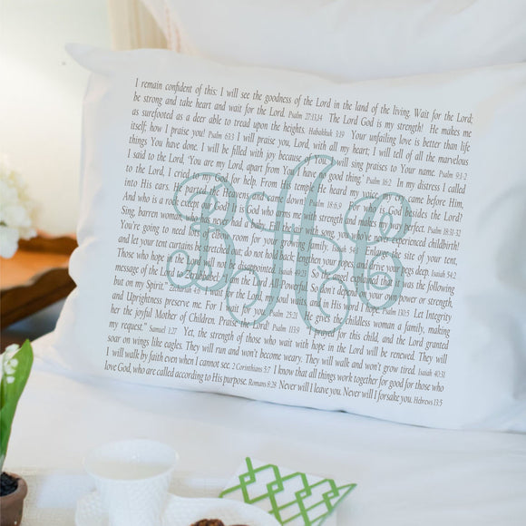 PillowGrace Scripture Pillowcase for Adoptive Parents