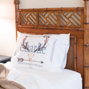 Arrows and Antlers - Standard Pillowcase