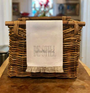 Be Still - Hand Towel with Frill