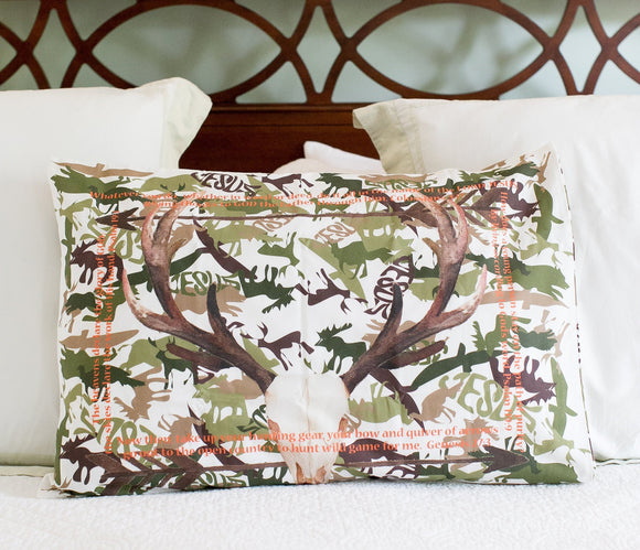 SALE - Green Camo Standard Pillowcase