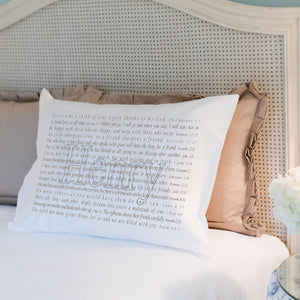 Scripture for Friendship - Standard Pillowcase