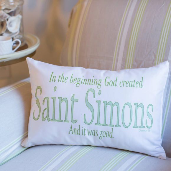 In the Beginning Genesis - Boudoir Pillow
