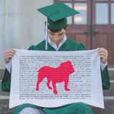 Scripture for the Happy Heart Bulldog - Standard Pillowcase