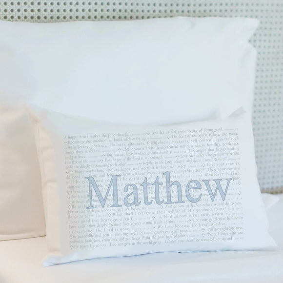 Scripture for the Happy Heart (Soccer) - Boudoir Pillow
