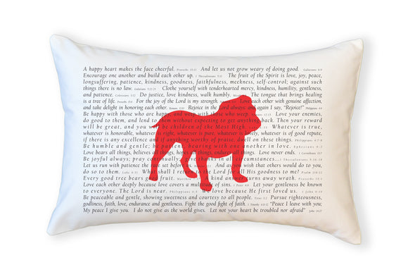 Scripture for the Happy Heart Bulldog - Boudoir Pillow