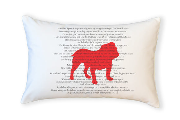 Scripture for Integrity Bulldog - Boudoir Pillow
