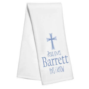 Jesus Loves Me (Blue) - Hand Towel