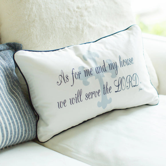 Joshua 24:15 - Boudoir Pillow