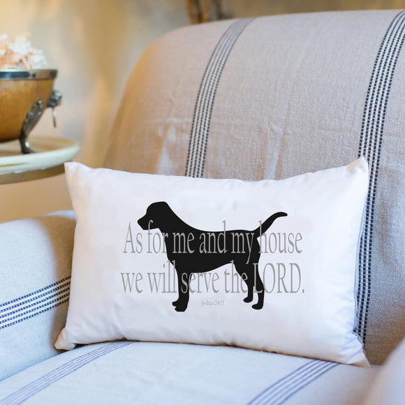 Joshua 24:15 (Pedigree) - Boudoir Pillow