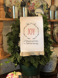Luke 2:10 Joy - Christmas Hand Towel with Frill