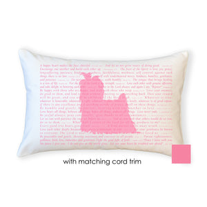 OUTLET - Scripture for the Happy Heart Pedigree (assorted breeds) - Boudoir Pillow
