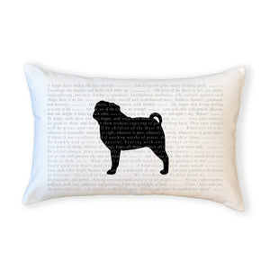 SALE - Scripture for the Happy Heart Pedigree (assorted breeds) - Boudoir Pillow